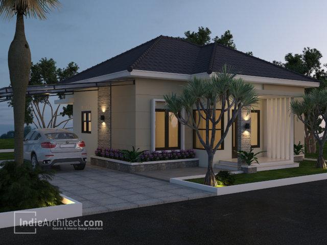 Desain Rumah Minimalis 1 Lantai Bu Nina Di Bandung