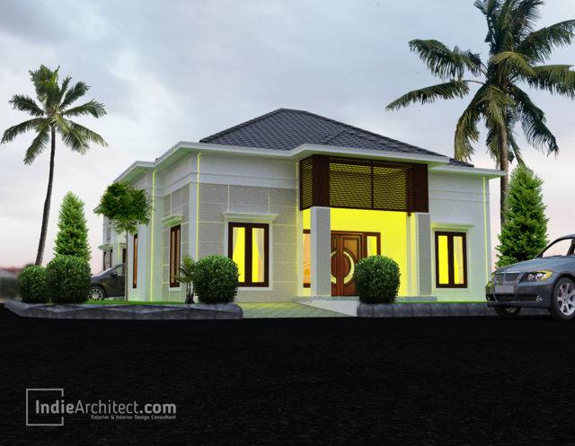 Desain Rumah Minimalis Tropis 1 Lantai Pak Beno - Indie Architect