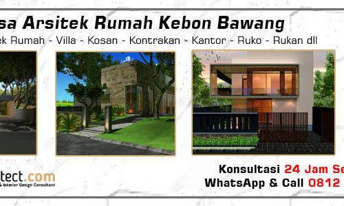 Jasa Arsitek Rumah Kebon Bawang - Jakarta Utara