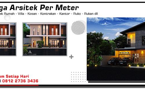 Harga Arsitek Per Meter